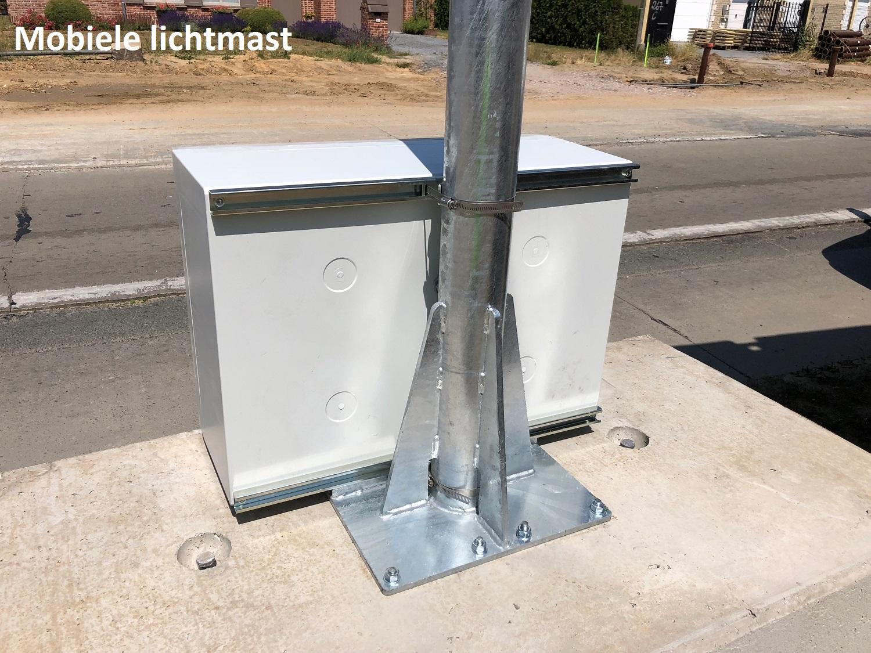 Solar lichtmast mobiel