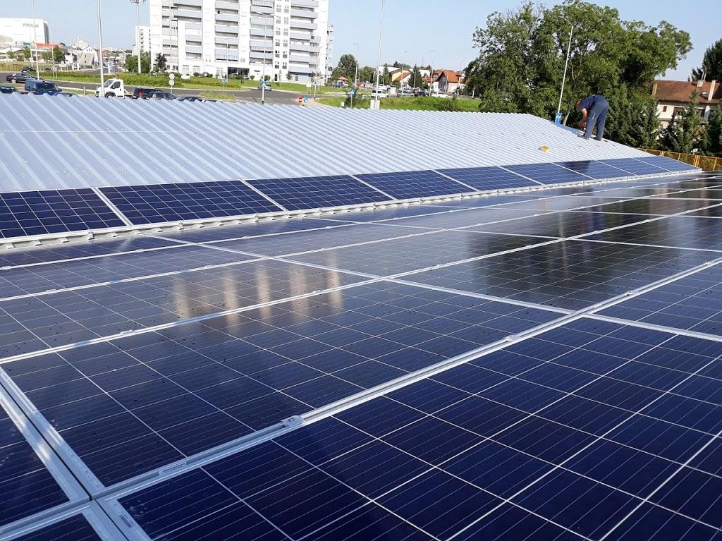 solar carport pv montage