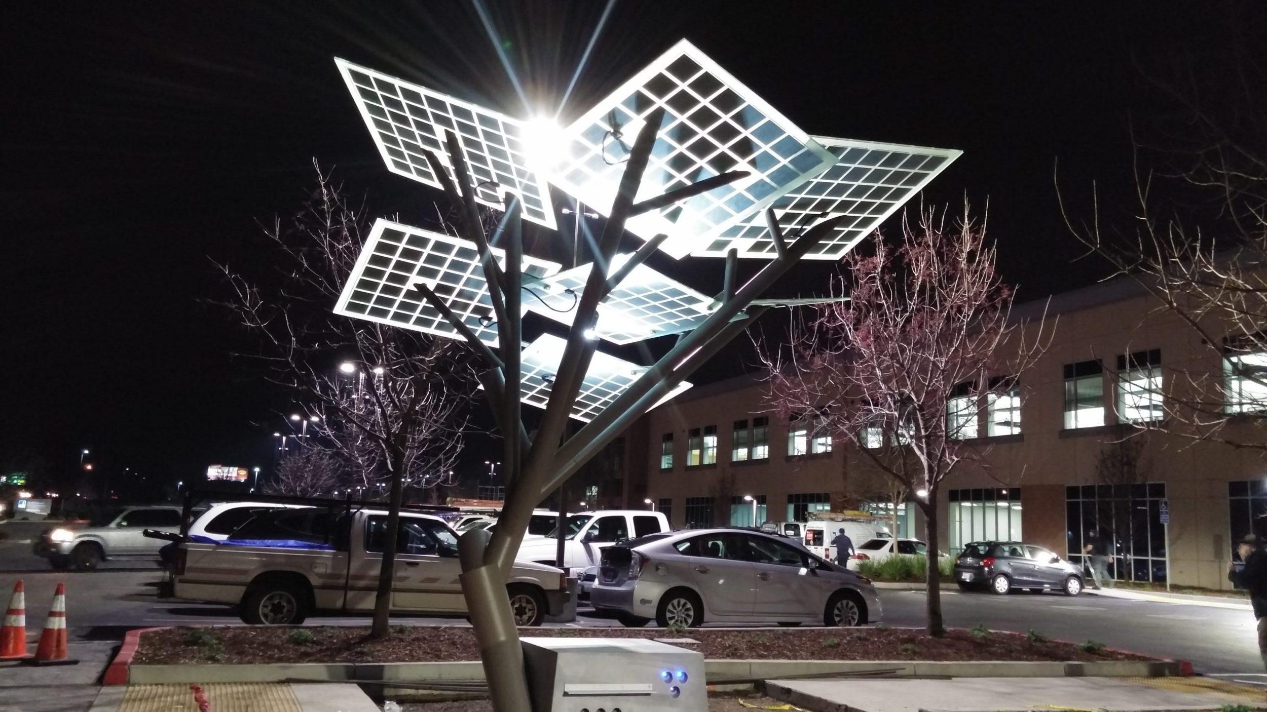 Solar tree verlichting