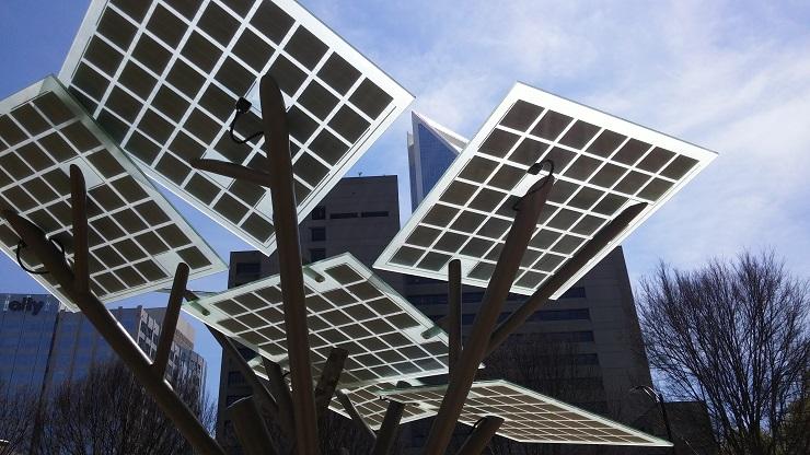 Solar tree vooraanzicht