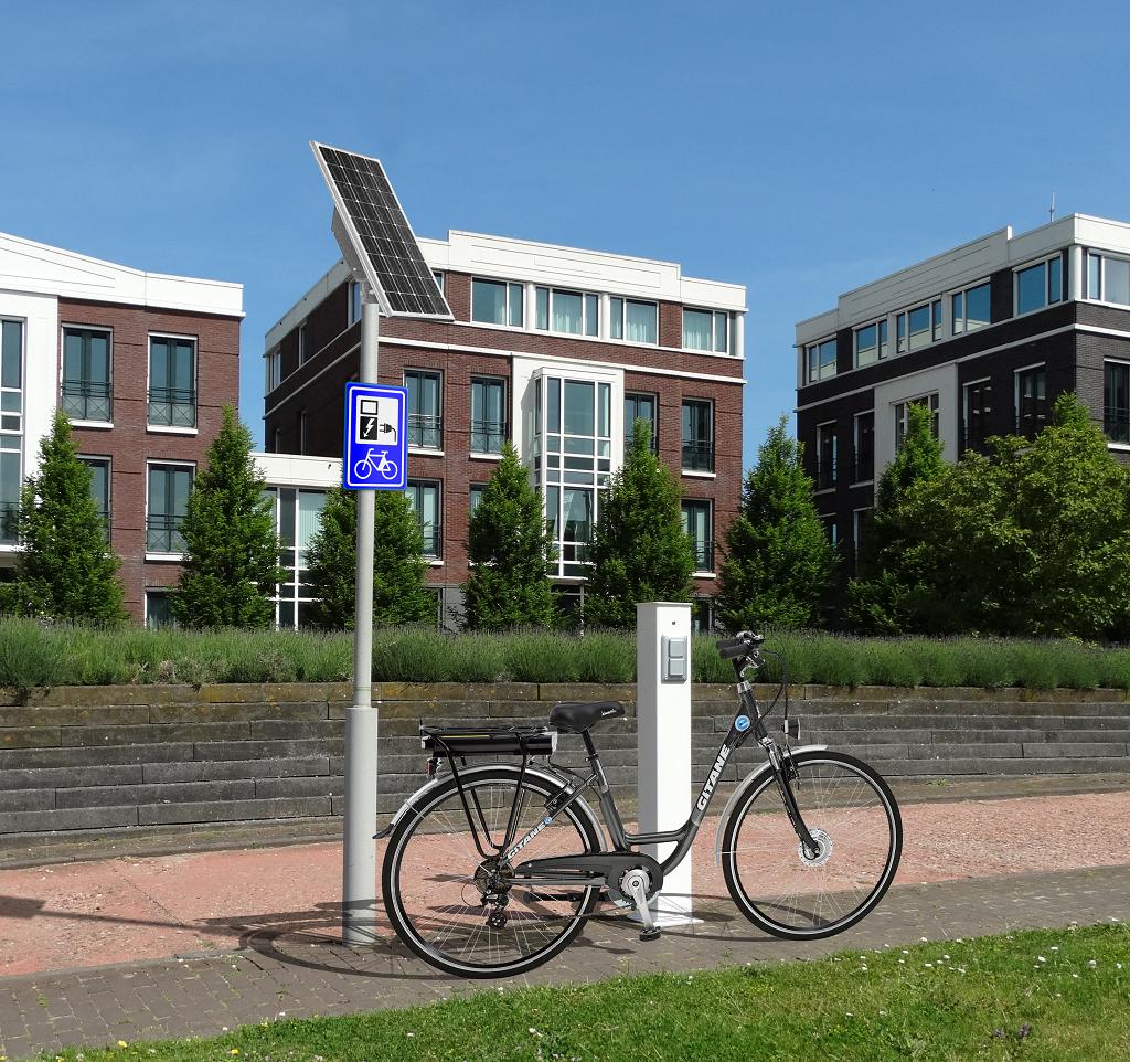 Fiets laadpaal zonne-energie