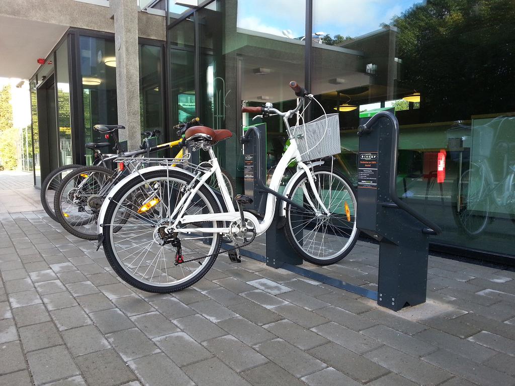 Bikeep fietsenrek winkelcentrum