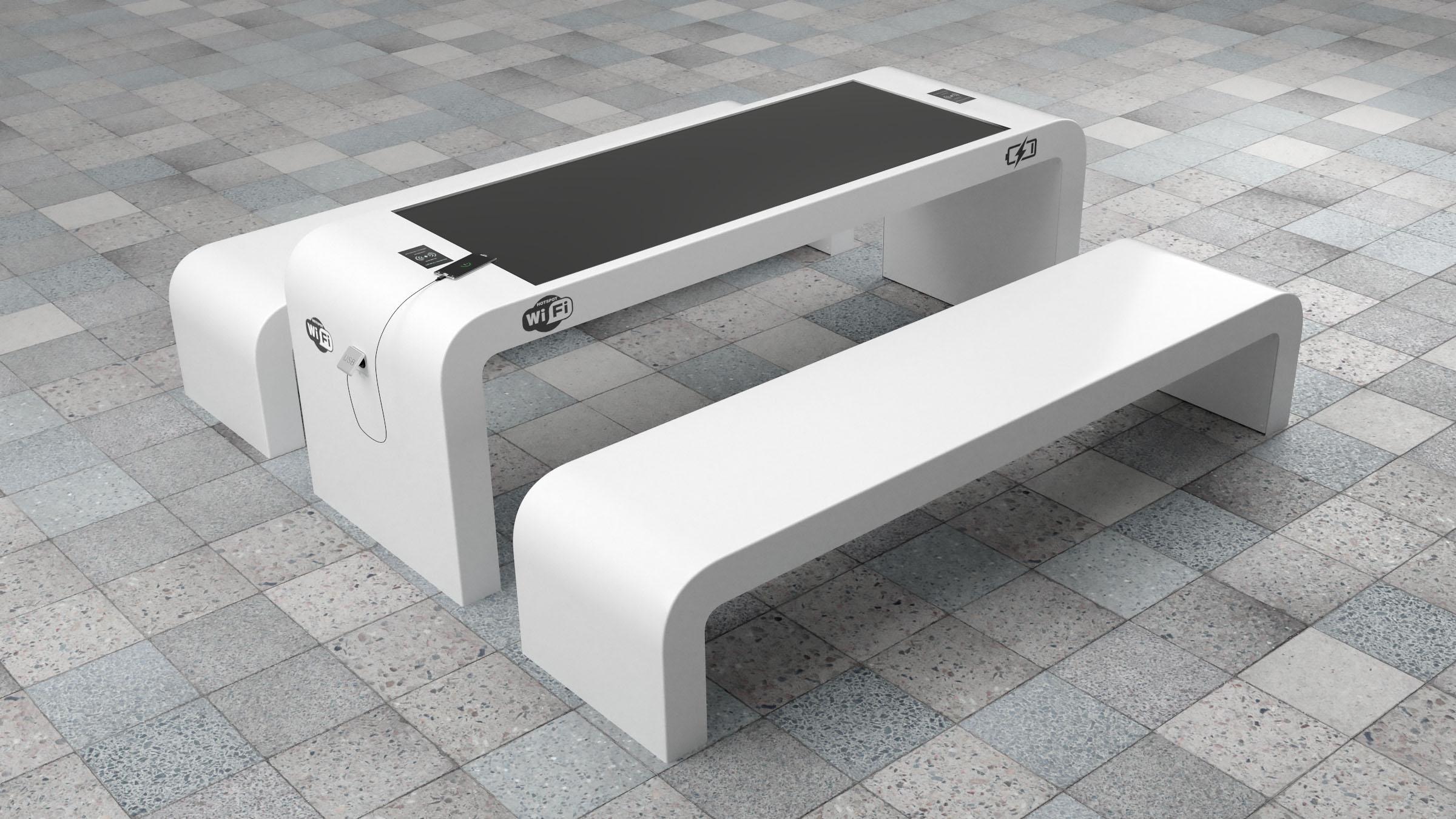 Smart solar picknicktafel usb wifi park