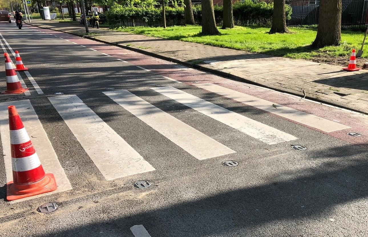 Wegdekverlichting zebra