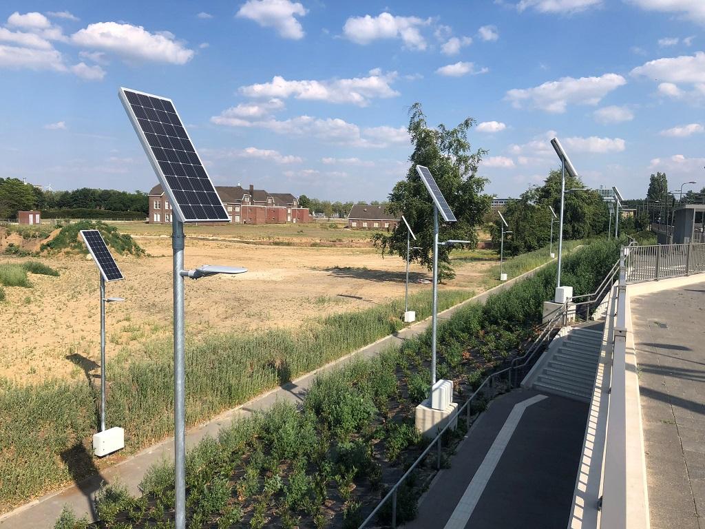 Mobiele lichtmasten zonne-energie