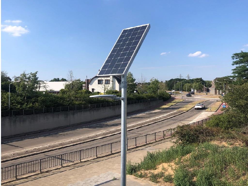 Solar lichtmast inframarks