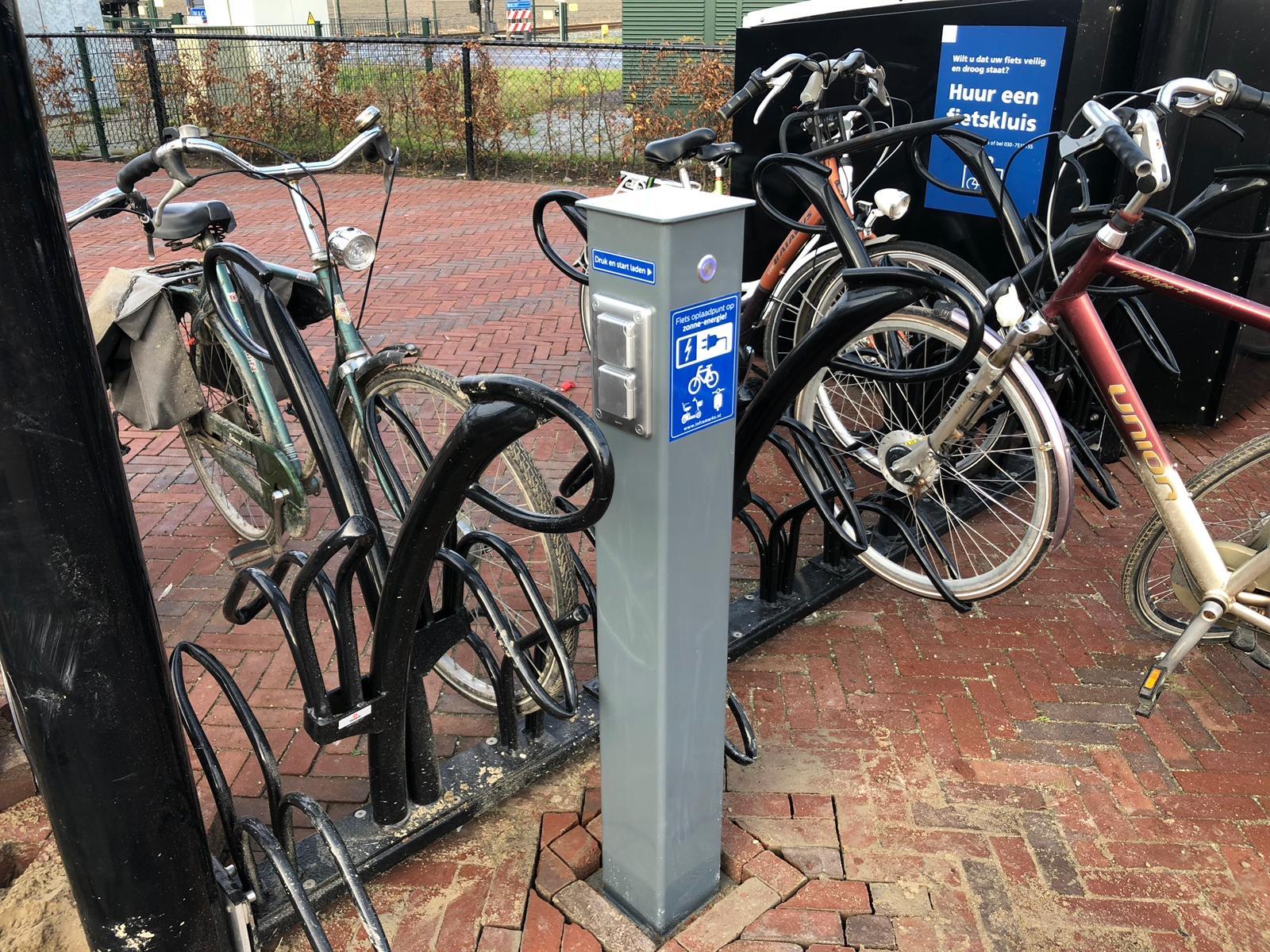 E-bike oplaadpunt fietsenstalling