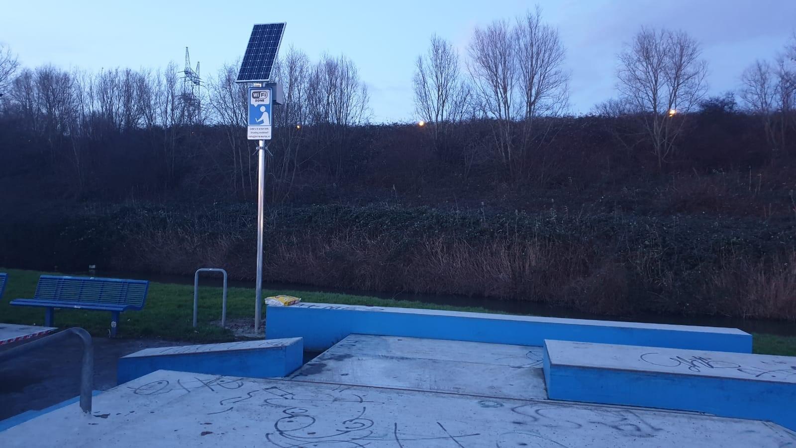 Skatepark WiFi hotspot