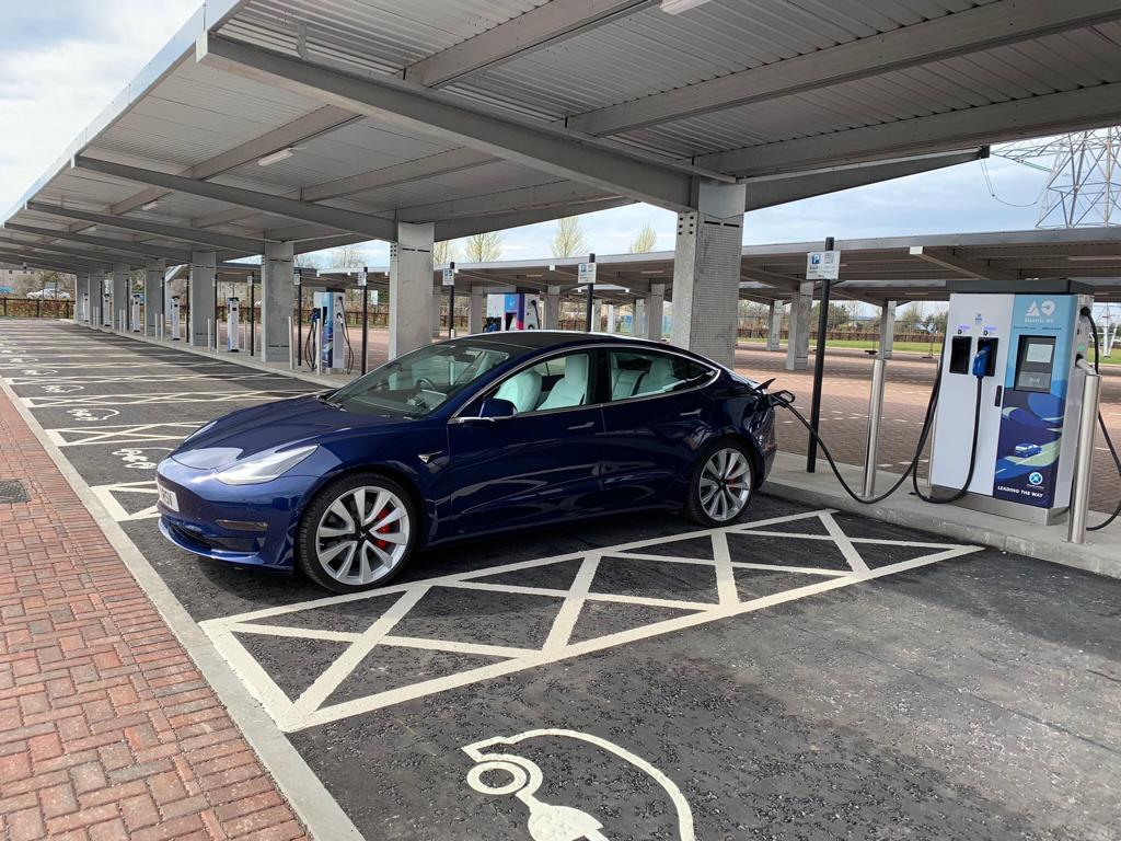 solar parking tesla