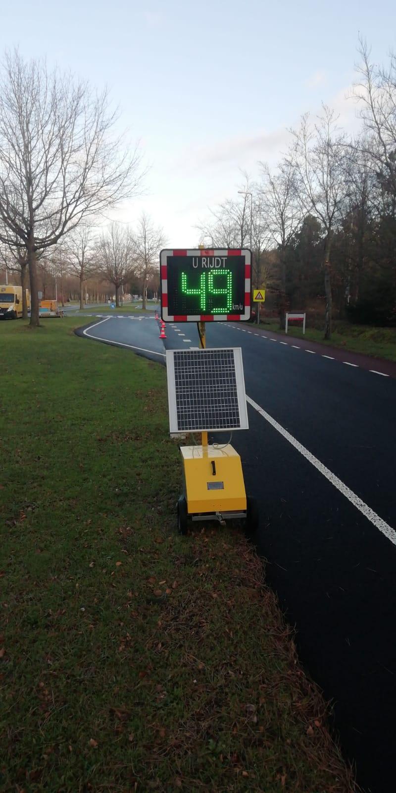 Snelheidsinformatiebord