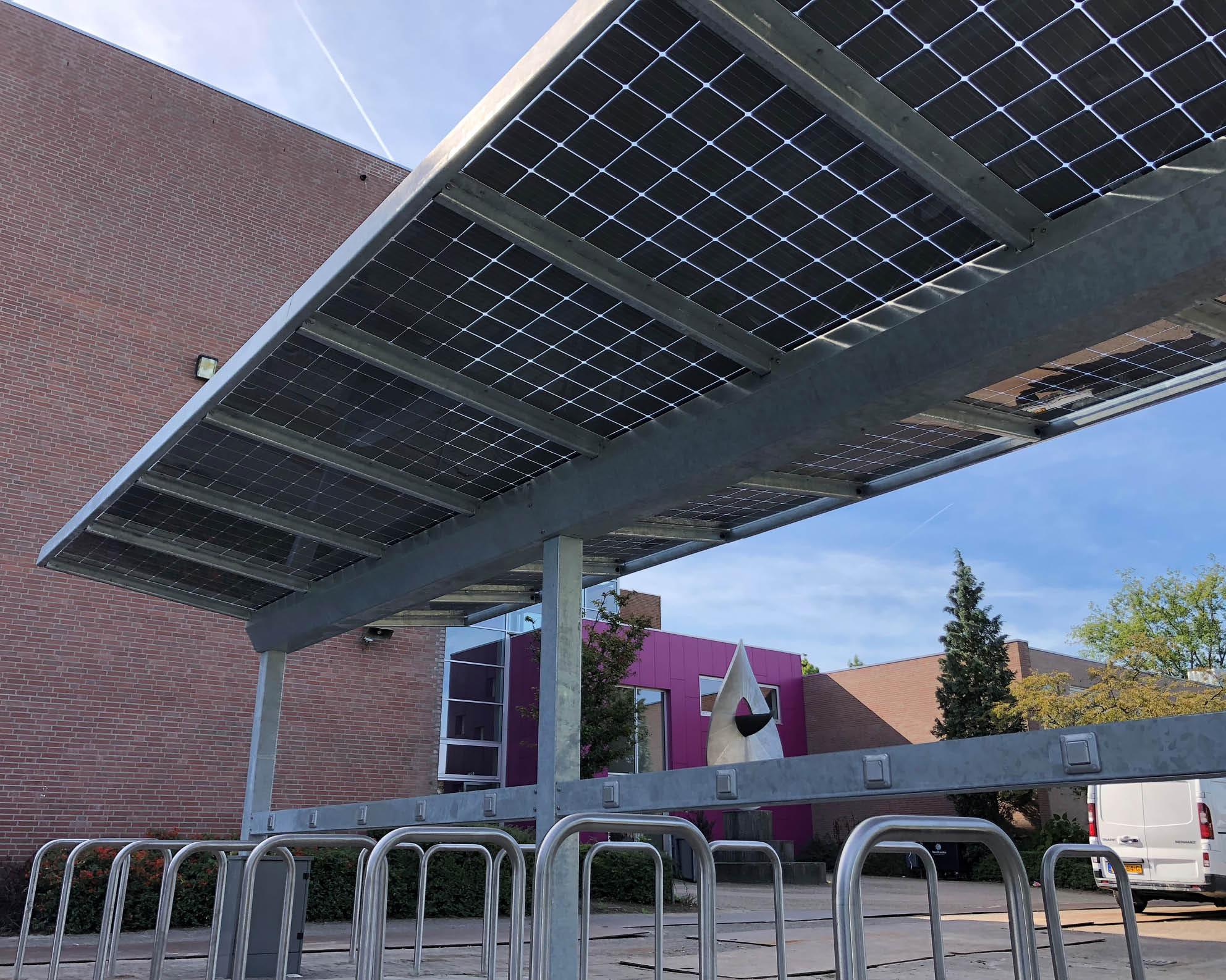 Fietsenstalling zonne-energie