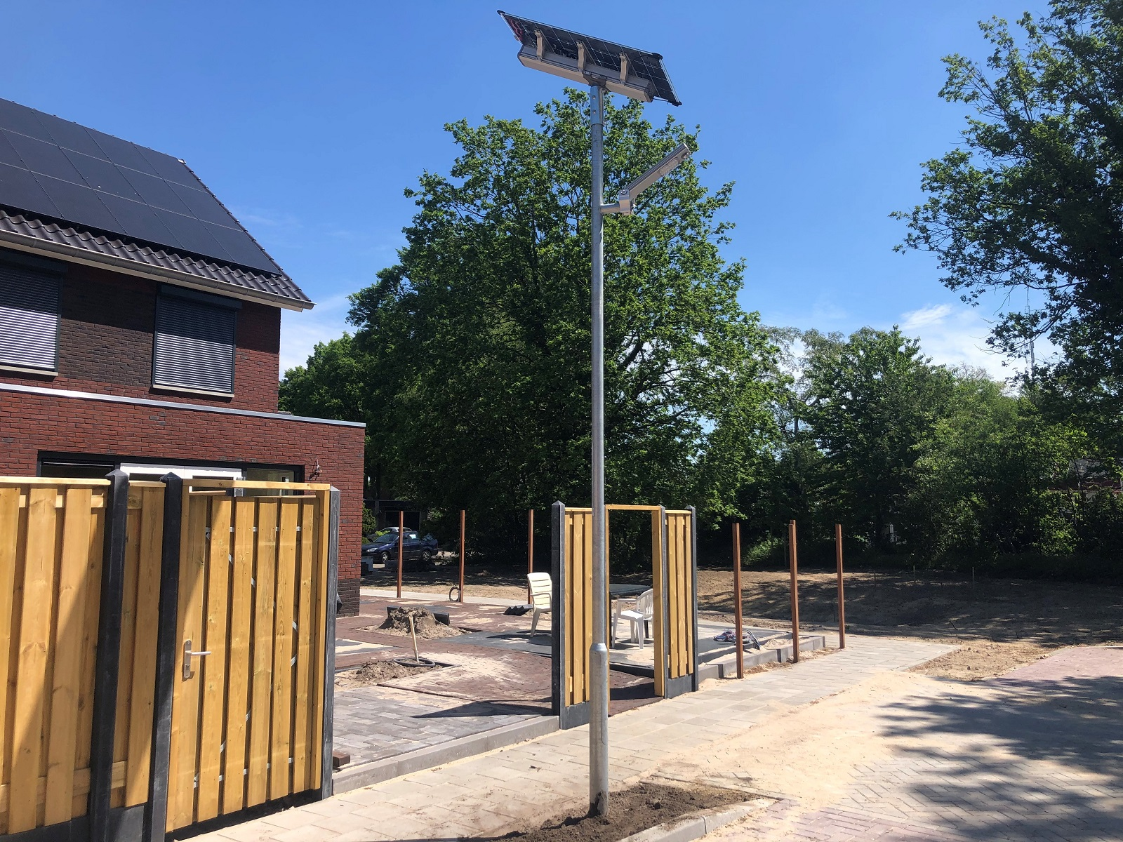 Solar lichtmast nieuwbouw